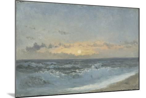 Sunset over the Sea, 1900 (Oil on Board)-William Pye-Mounted Giclee Print