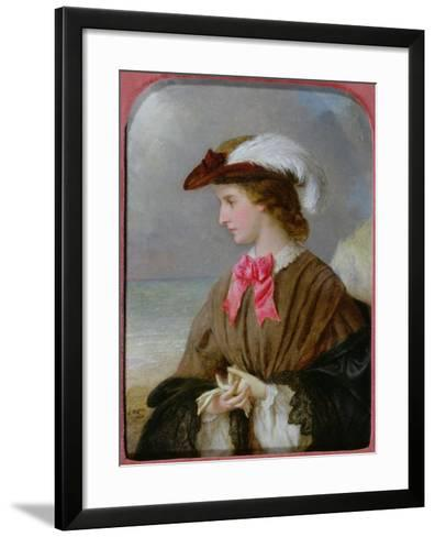 The Red Bow-Edward Robert Hughes-Framed Art Print