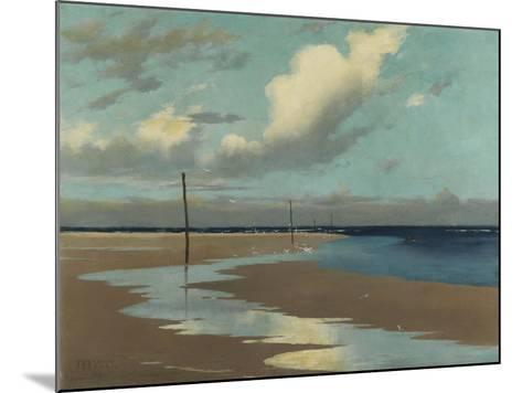 Beach at Low Tide, 1890-Frederick Milner-Mounted Giclee Print