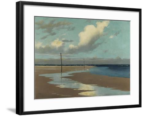Beach at Low Tide, 1890-Frederick Milner-Framed Art Print