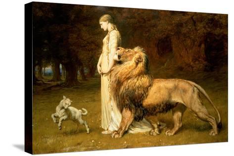 Una and the Lion, from Spenser's Faerie Queene, 1880-Briton Rivi?re-Stretched Canvas Print