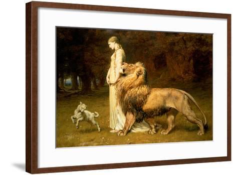 Una and the Lion, from Spenser's Faerie Queene, 1880-Briton Rivi?re-Framed Art Print