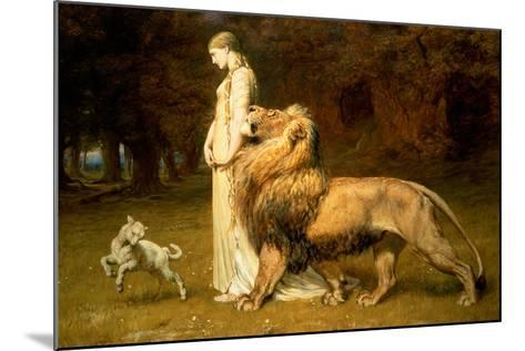 Una and the Lion, from Spenser's Faerie Queene, 1880-Briton Rivi?re-Mounted Giclee Print