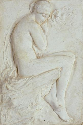 Psyche (Plaster)-Harry Bates-Stretched Canvas Print