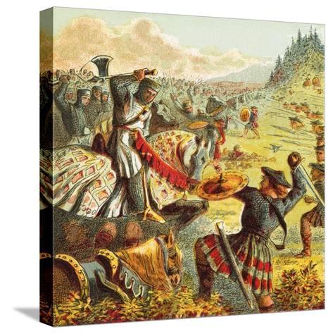 Edward I Attacks Scotland-English-Stretched Canvas Print