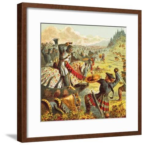 Edward I Attacks Scotland-English-Framed Art Print