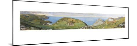 The Valley of the Rocks (W/C and Gouache Heightened with White)-William Henry Millais-Mounted Giclee Print