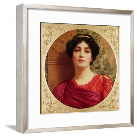 Classical Lady-John William Godward-Framed Art Print