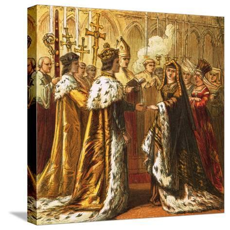 Marriage of Henry Vii-English-Stretched Canvas Print