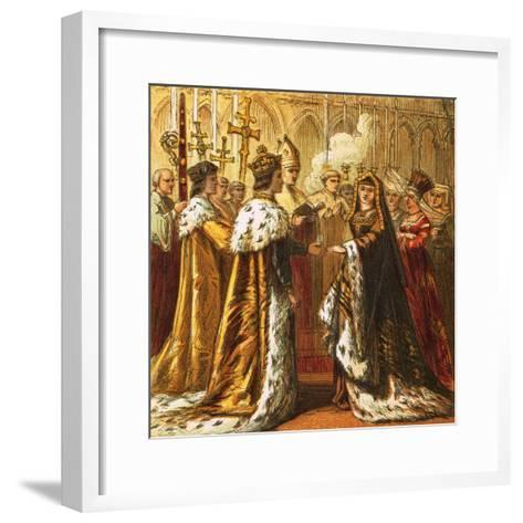 Marriage of Henry Vii-English-Framed Art Print