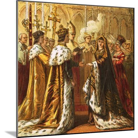 Marriage of Henry Vii-English-Mounted Giclee Print