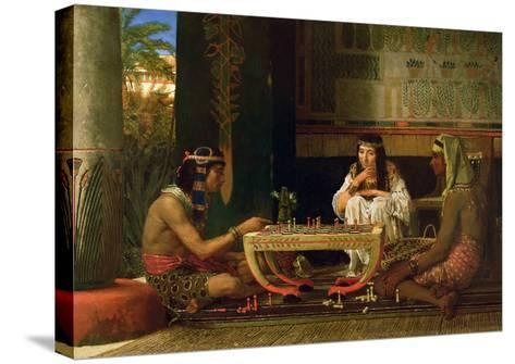 Egyptian Chess Players, 1865 (Oil on Panel)-Sir Lawrence Alma-Tadema-Stretched Canvas Print