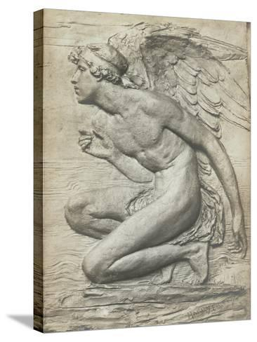The Story of Psyche: Cupid (Silvered Bronze) (See 198359 and 201279)-Harry Bates-Stretched Canvas Print
