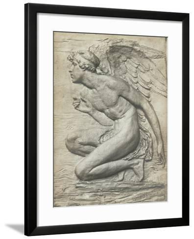 The Story of Psyche: Cupid (Silvered Bronze) (See 198359 and 201279)-Harry Bates-Framed Art Print