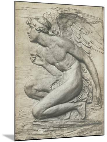 The Story of Psyche: Cupid (Silvered Bronze) (See 198359 and 201279)-Harry Bates-Mounted Giclee Print