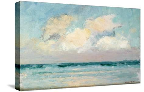 Sea Study - Morning (Oil on Panel)-Adrian Scott Stokes-Stretched Canvas Print
