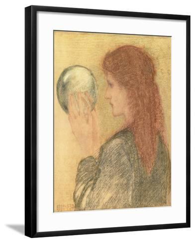 Astrologia, 1893 (Pastel on Paper)-Edward Burne-Jones-Framed Art Print