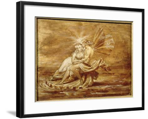 Fairies on a Shell (W/C)-Sir Joseph Noel Paton-Framed Art Print