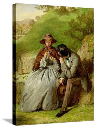 Lovers, 1855 (Oil on Board)-William Powell Frith-Stretched Canvas Print