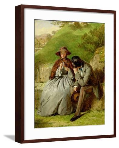 Lovers, 1855 (Oil on Board)-William Powell Frith-Framed Art Print