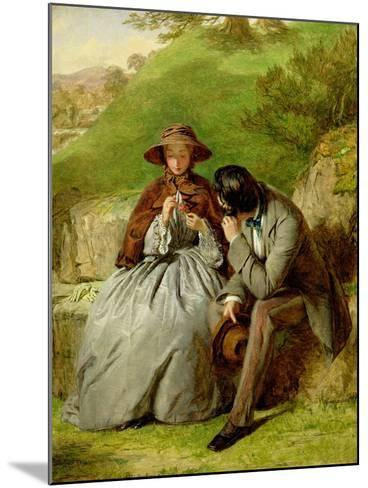 Lovers, 1855 (Oil on Board)-William Powell Frith-Mounted Giclee Print
