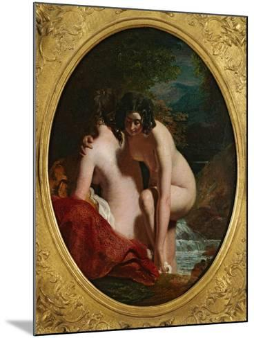 Two Girls Bathing (Oil on Panel)-William Etty-Mounted Giclee Print