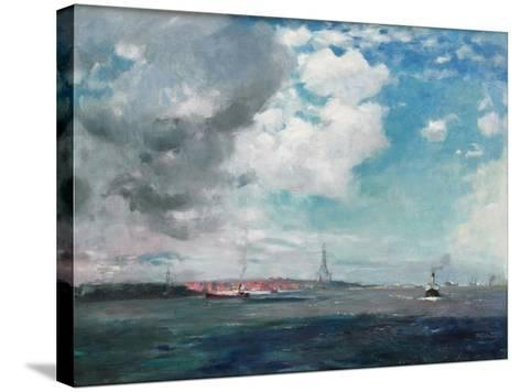 New Brighton from the Mersey, 1907 (Oil on Panel)-James Hamilton Hay-Stretched Canvas Print