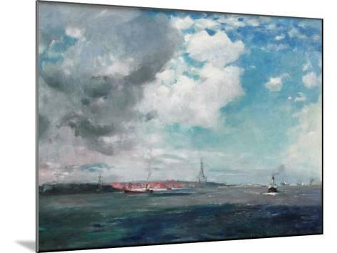 New Brighton from the Mersey, 1907 (Oil on Panel)-James Hamilton Hay-Mounted Giclee Print
