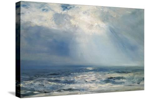 A Sunbeam over the Sea, 1890 (Oil on Panel)-Henry Moore-Stretched Canvas Print