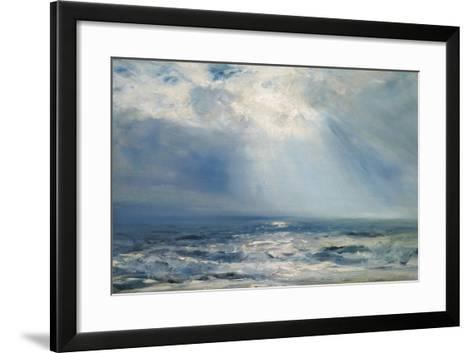 A Sunbeam over the Sea, 1890 (Oil on Panel)-Henry Moore-Framed Art Print