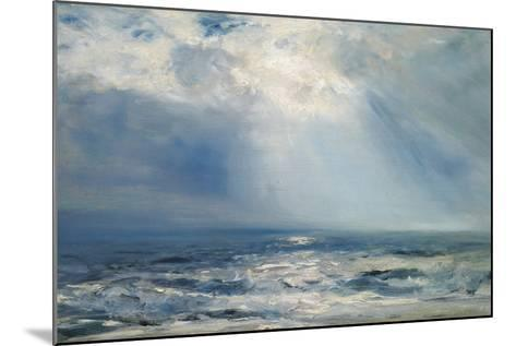A Sunbeam over the Sea, 1890 (Oil on Panel)-Henry Moore-Mounted Giclee Print