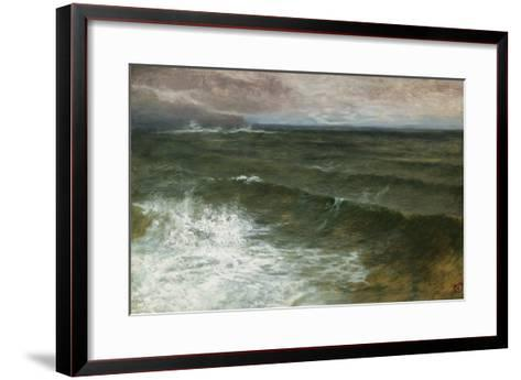 Lannacombe Bay, Start Point in the Distance (Oil on Board)-George Vicat Cole-Framed Art Print