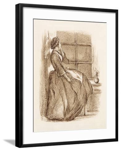 Lost Love, C.1859 (Pen and Ink)-John Everett Millais-Framed Art Print