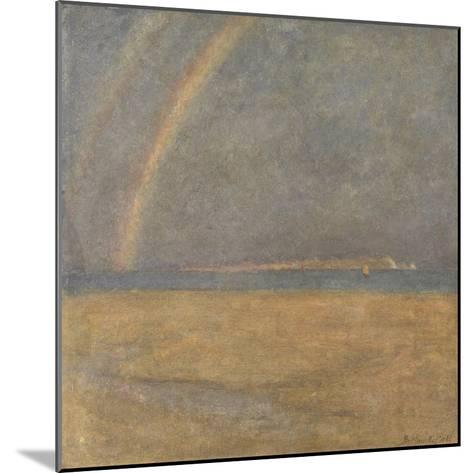 Rainbow over the Needles, Isle of Wight, C.1890 (Oil on Board)-Arthur George Bell-Mounted Giclee Print