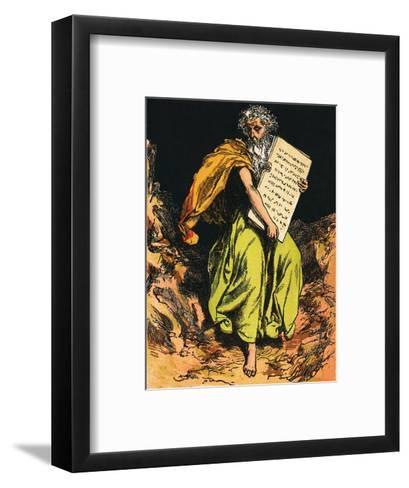 The Ten Commandments-English-Framed Art Print
