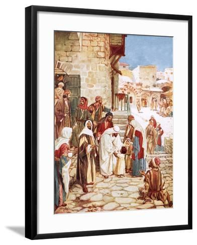 Jesus Blessing Little Children-William Brassey Hole-Framed Art Print