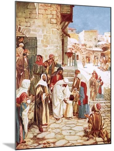 Jesus Blessing Little Children-William Brassey Hole-Mounted Giclee Print
