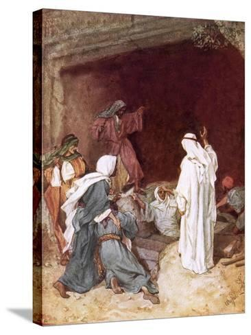 Jesus Raising Lazarus from the Dead-William Brassey Hole-Stretched Canvas Print
