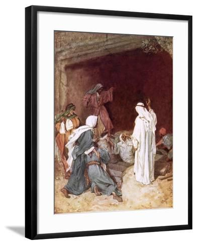 Jesus Raising Lazarus from the Dead-William Brassey Hole-Framed Art Print
