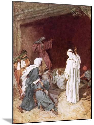 Jesus Raising Lazarus from the Dead-William Brassey Hole-Mounted Giclee Print