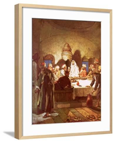 Jesus Breaking Bread and Giving His Disciples the Cup-William Brassey Hole-Framed Art Print