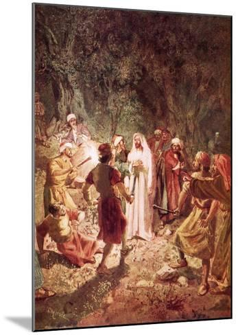 Judas Betraying Jesus with a Kiss, in the Garden of Gethsemane-William Brassey Hole-Mounted Giclee Print