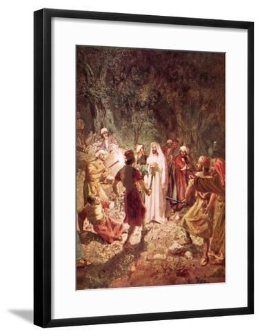 Judas Betraying Jesus with a Kiss, in the Garden of Gethsemane-William Brassey Hole-Framed Art Print