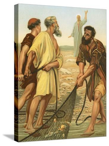 Christ Calling the Disciples-Philip Richard Morris-Stretched Canvas Print