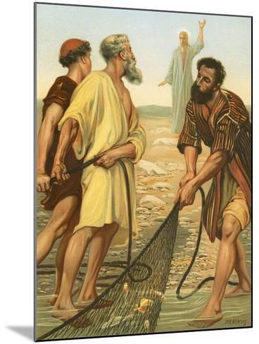 Christ Calling the Disciples-Philip Richard Morris-Mounted Giclee Print