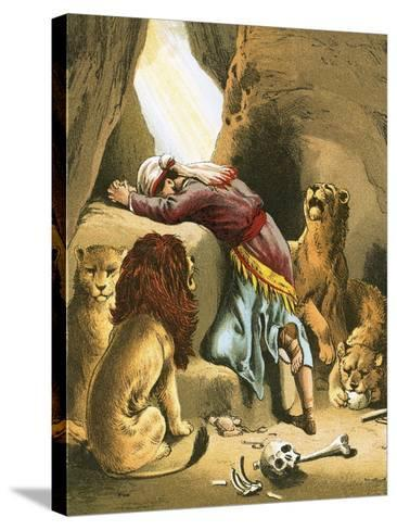 Daniel in the Lion's Den-English-Stretched Canvas Print