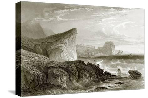 Scilla and Charybdis, Sicily-English-Stretched Canvas Print