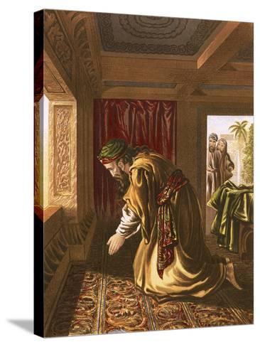 Daniel Praying-English-Stretched Canvas Print