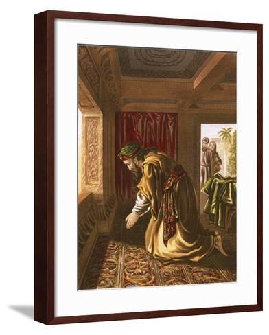 Daniel Praying-English-Framed Art Print
