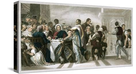 Marriage at Cana-Paolo Veronese-Stretched Canvas Print